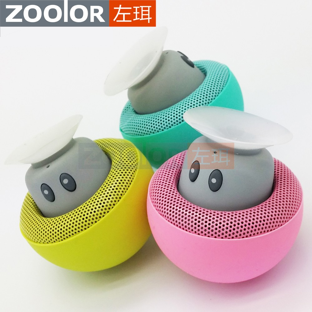 Mini Bluetooth 4.0 Speaker Waterproof Mushroom Stereo Shower Speaker