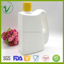 HDPE food grade white plastic bottle milk with screw lid