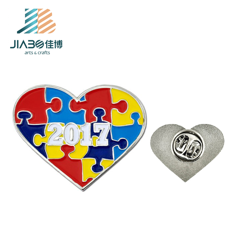 Jiabo custom soft enamel bulk metal antique double flag metal lapel pins