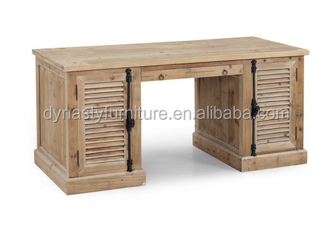 vintage style solid wood writing simple study desk