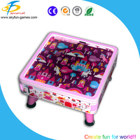 2016 Kiddie table top air hockey table game machine in coin operated game machine