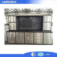China supplier 72 inch 15 drawer stainless steel tool chest for sale