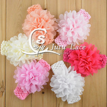Bohemian Style Flower Rope Elastic Hair Band for Women / NEW grosgrain ribbon Baby Headbands Boutique flower