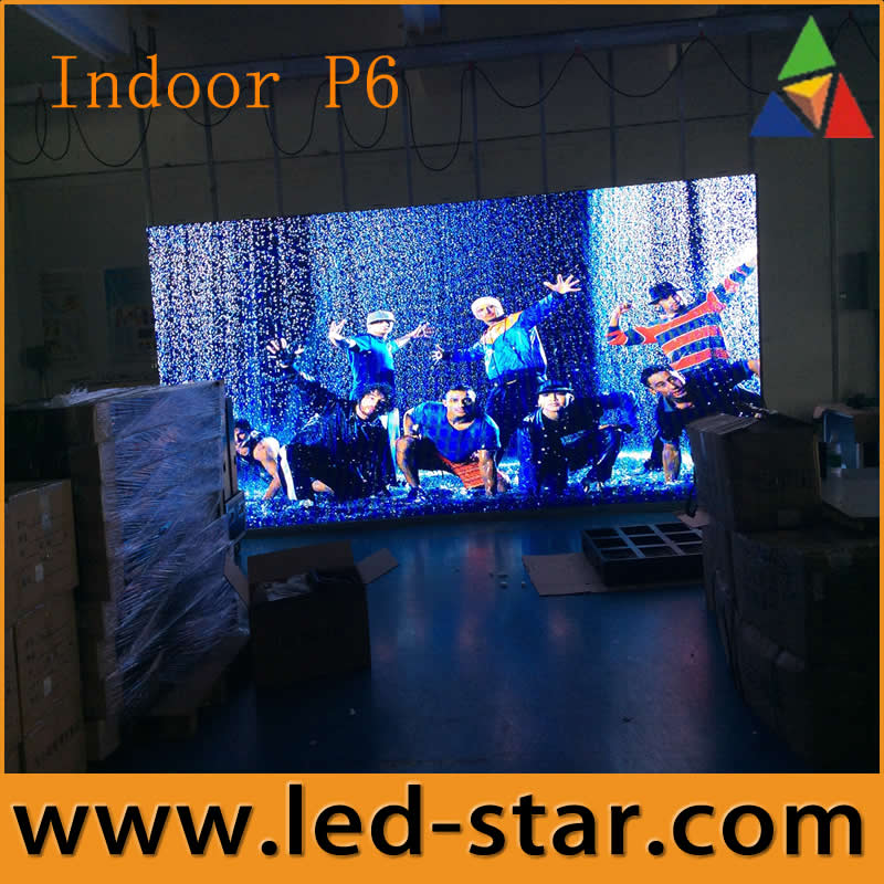 indoor P6 video working of led display in shenzhen