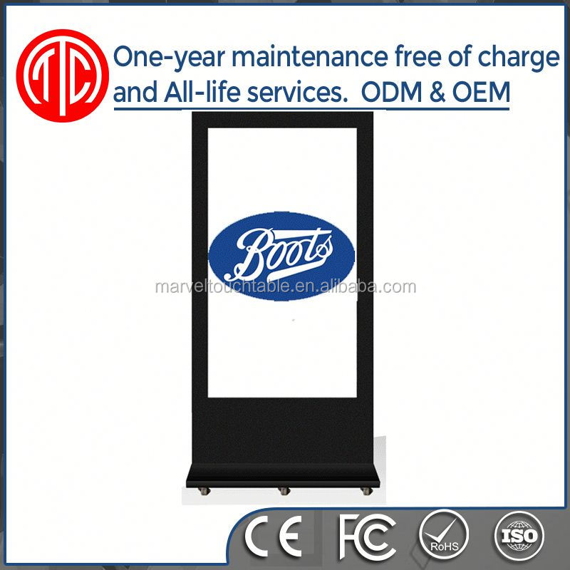Smart vertical HD TFT vertical lcd 32 inch usb cf/sd card floor standing digital signage