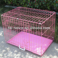 "New 36"" 2 Doors Folding Dog Pet Crate Cage Kennel With ABS Tray High Quality"