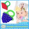 2016 Amazon top selling novelty silicone baby teether Bpa free silicone baby teething toy