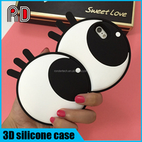 2016 new fashion 3d dynamic big cute eye soft rubber silicone back cover case for iphone 6 6s 6plus