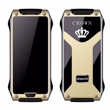 High Quality vkworld Crown V8 IR Control/Bluetooth Call/ Pedometer/Anti Thief Mini Card Size GSM Bluetooth Mobile Phone