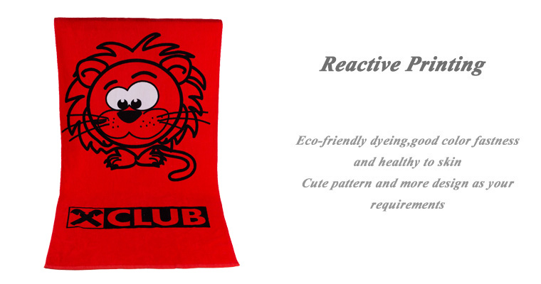textiles 100% cotton printed beach towel with custom logo