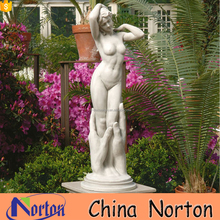 Garden decoration life size marble nude woman statue NTMS0930A