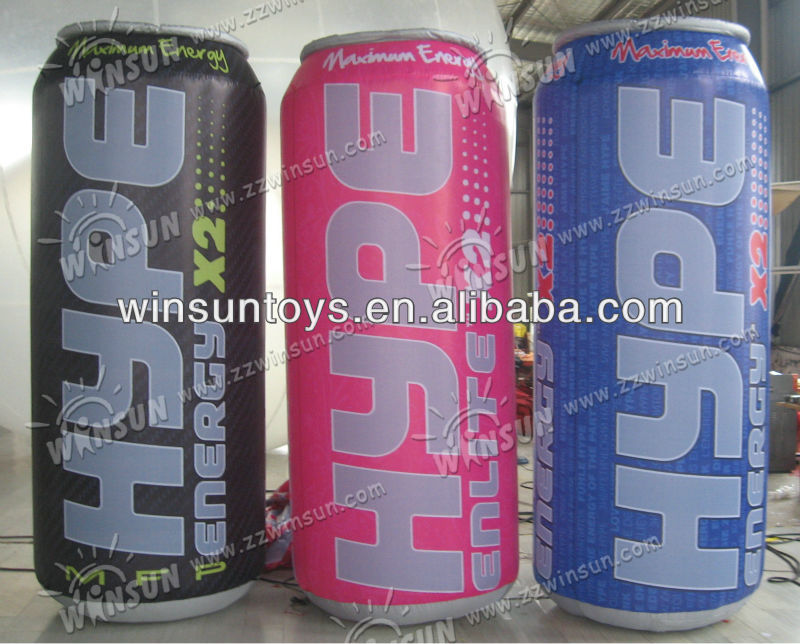 2013 customized inflatable beer can advertising model