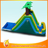 PVC/TPU fire truck inflatable water slide playing at grass