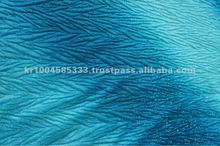 ICE VELVET 2TONE OMBRE PRINTED WITH PLEATED HOT MELT METALLIC FABRIC