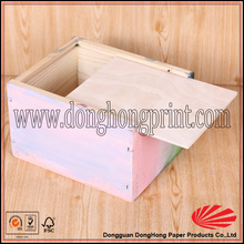 Factory price custom design sliding lid wooden box