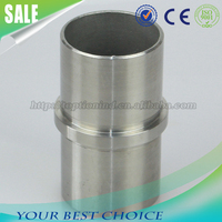 Stainless steel handrail tube connector round tube joiner