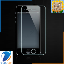 High clear tempered glass screen protector for iPhone 4 4S