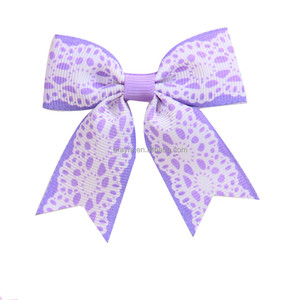 Wholesale Gorgeous Cheerleading Bow Cheer Hair Bows with Rubber Band or Metal Clip
