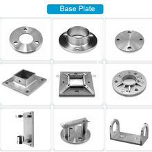 stainless steel railing accessories handrail fitting base plate round pipe handrail baluster post flange