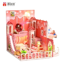 Craft mini wooden houses house decoration