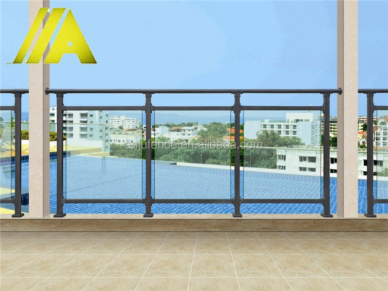 YT-012 modern home outdoor/indoor laminated glass balcony railing & stairway design
