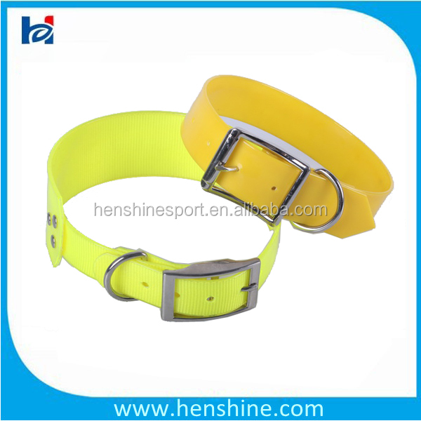 Waterproof Fluorescent Flashing Durable Tpu Dog Collar For Hunting And Training