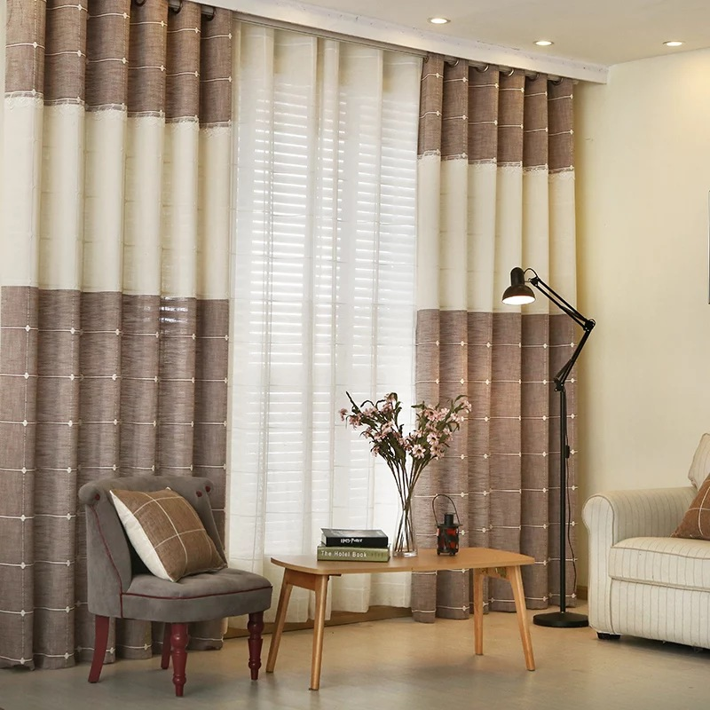 Arabic curtains with embroidery for home