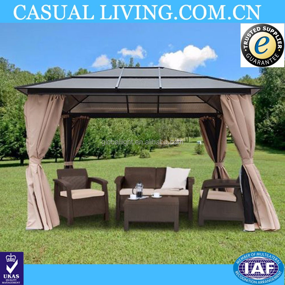 Outdoor Aluminum Waterproof Gazebo Canopy Replacement Covers 10x12
