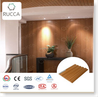 Rucca high quality eco-friendly interior decorative wall panel wpc wooden wall paneling boards 159*10mm construction material