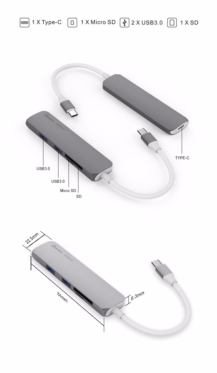 Professional 5 ports usb-c ethernet with charging type c usb 3.1 hub hotsale