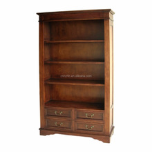 High quality home furniture solid wod classical custom style furniture bookcase