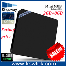 100% original kodi 16.0 2gb mini m8s fully loaded navi-x.xbmc android xbmc tv box