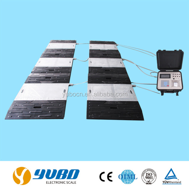 Portable static dynamic axle weighing pad scales / portable axle weigh bridge