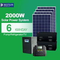 Suoer Low Price 6V 4AH Unique Portable Solar Power Electricity Generator System for Home Use 2000W