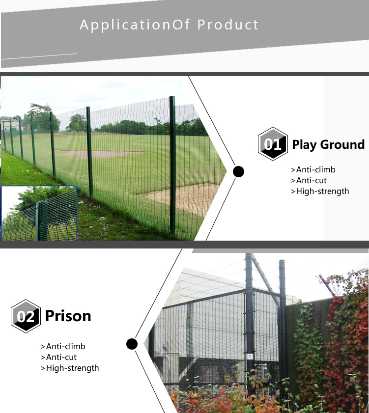 China Suppliers PVC Fence Panels Stainless Steel Wire Fence