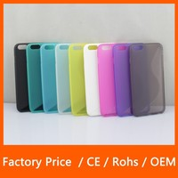 Crystal Clear S Line Wave Curve Soft TPU Gel Skin Cover Case For iPhone 6 5.5 inch