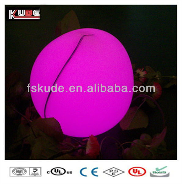 Color Changeable Plastic peach shape led table lamp