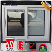 Factory price AS2047 australian standard anti theft window, alluminium windows and doors double glazed windows