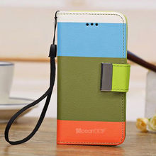 New fashion multicolor hot selling wallet Flip leather case for iphone 5c unlocked
