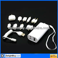 New 5200mAh External Battery Backup Power Bank Charger W/ 10 Connectors for iPhone Nokia LG PSP MP3