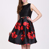 Formal women Ruffled Sleeveless Satin Evening Dress