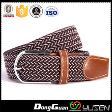 2017 Men's stretch woven canvas leather elastic belts for men