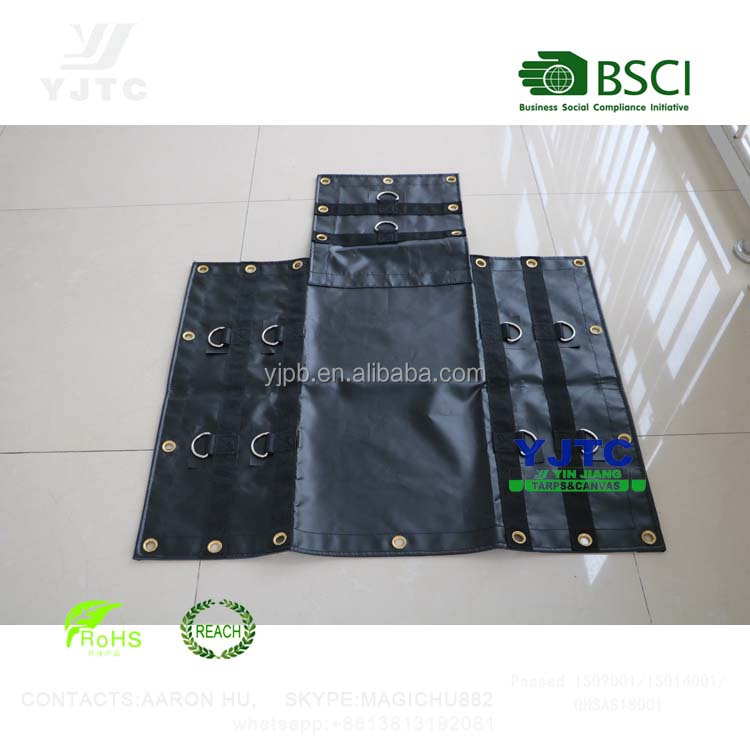 100% polyester fabric PVC coated tarpaulin for outdoor tent and truck cover