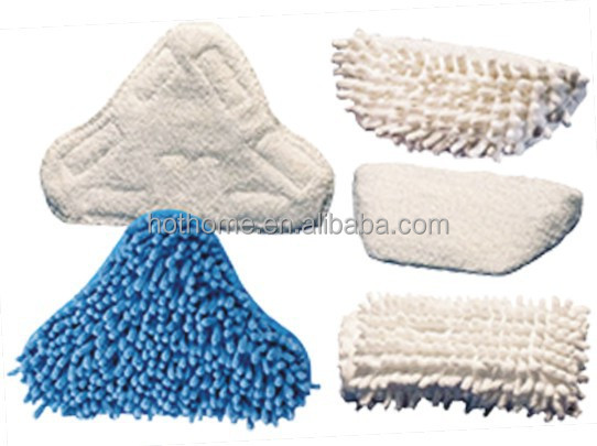 Factory Supplier Wholesale Triangle Small Fabric Steam Mop Pad