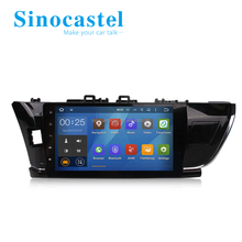 Hot selling! Quad Core Android 5.1.1 Car Gps Dvd Corolla 2014 Stereo Navigator Radio Head Unit 1024*600 Wifi