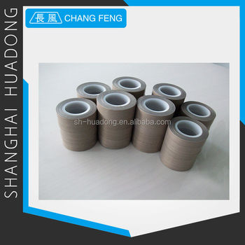 PTFE coated fiberglass fabric adhesive tape - single-sided adhesive, heat resistant for sealing machines