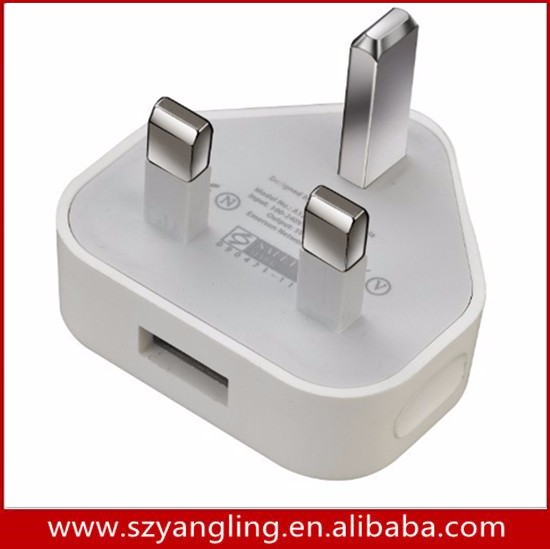 Manufacturing High Quality 100% original UK Plug Powered USB Port Wall Charger For iPhone