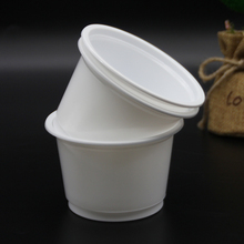 Strong white flat baby large food container