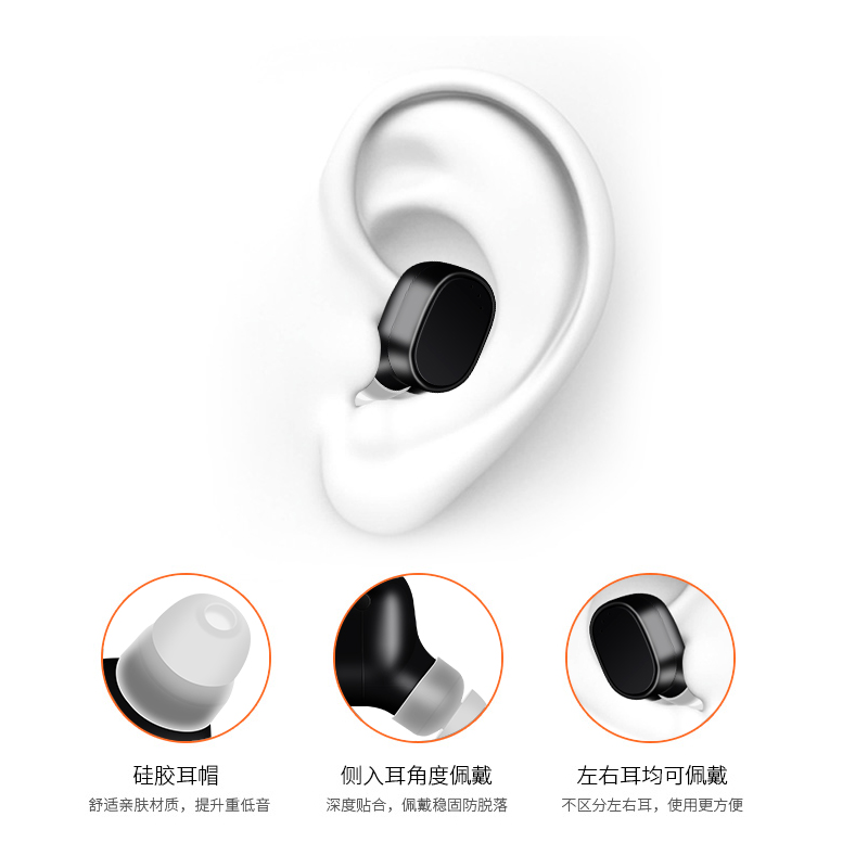 Factory Price Mini <strong>X12</strong> Wireless Earpiece Earbuds Headphone Headset For iPhone BT Headset Earbuds Magnetic Charge
