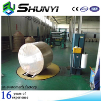 High Quality Factory Price Whole Sale Plastic Stretch Film Automatic Paper Roll Wrapping Machine/reel stretch wrapper